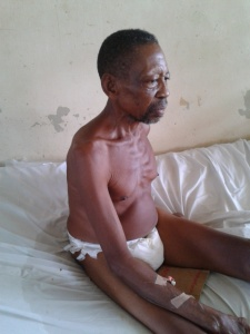 Mr. Joe Okiri receiving treatment at FMC, Owerri, Imo State